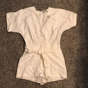 Urban Outfitters off white linen romper